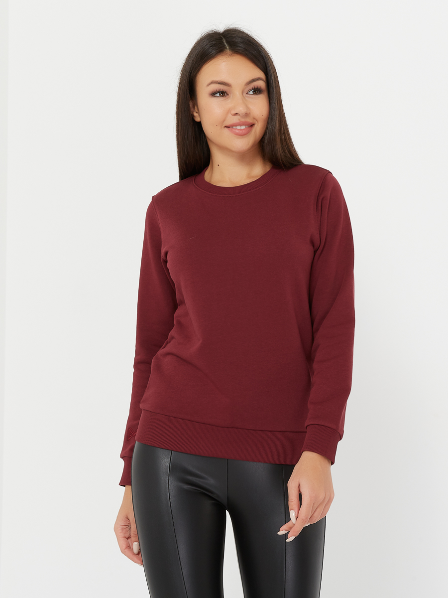 basic sweatshirt merlot