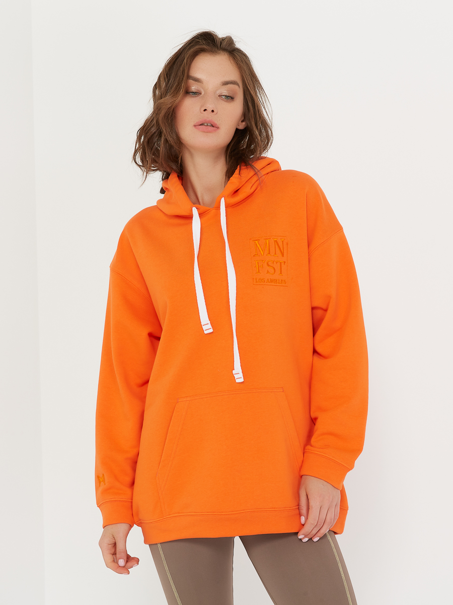 oversized hoodie orange peel