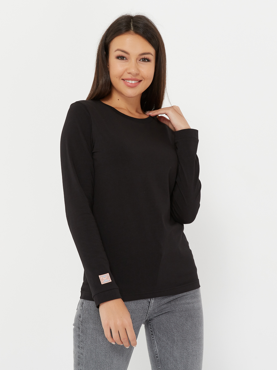 long-sleeve BASIC jet black