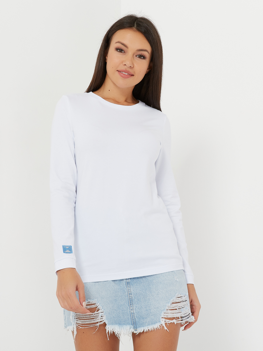 long-sleeve BASIC white