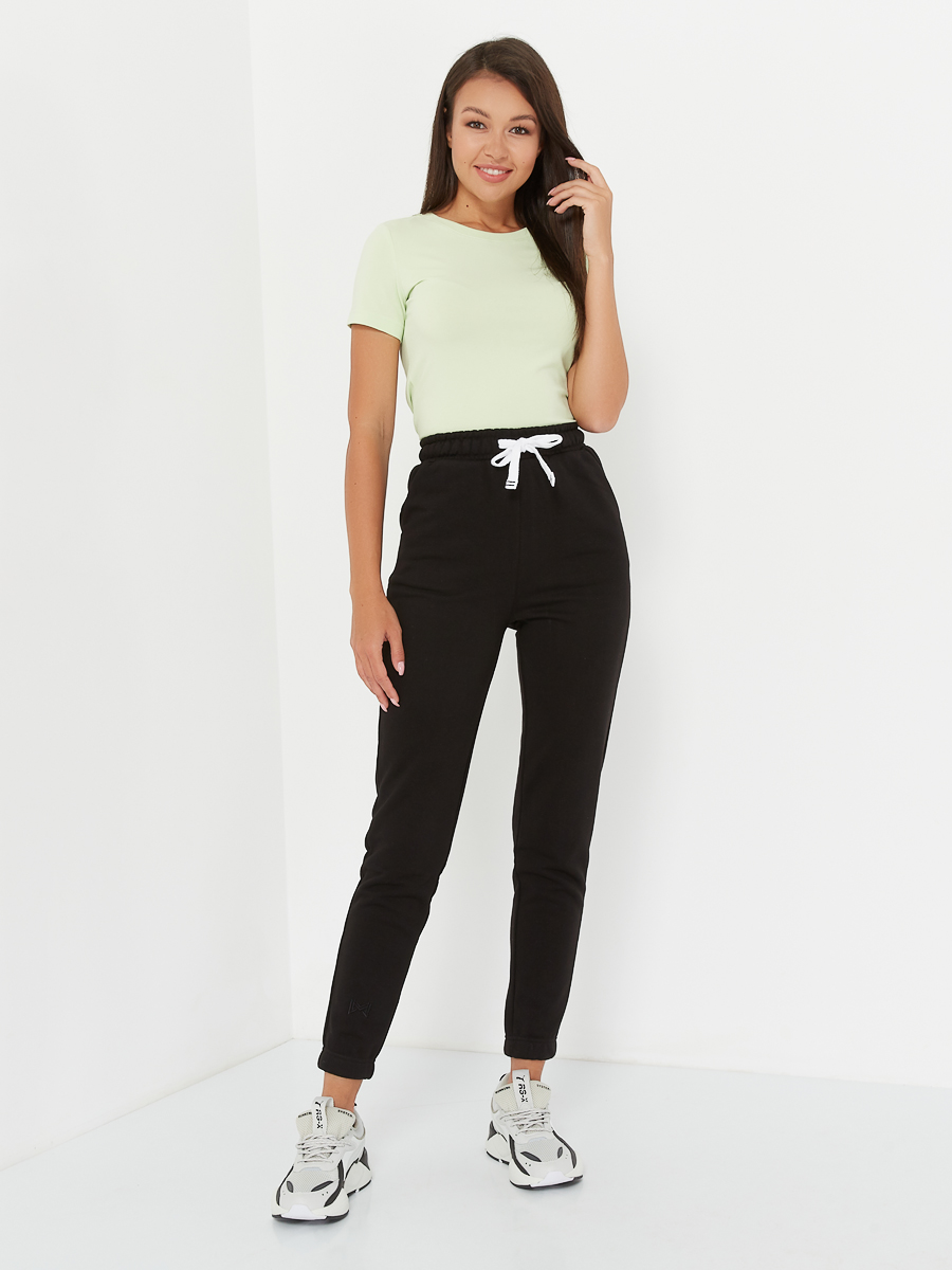 high waisted pants true black