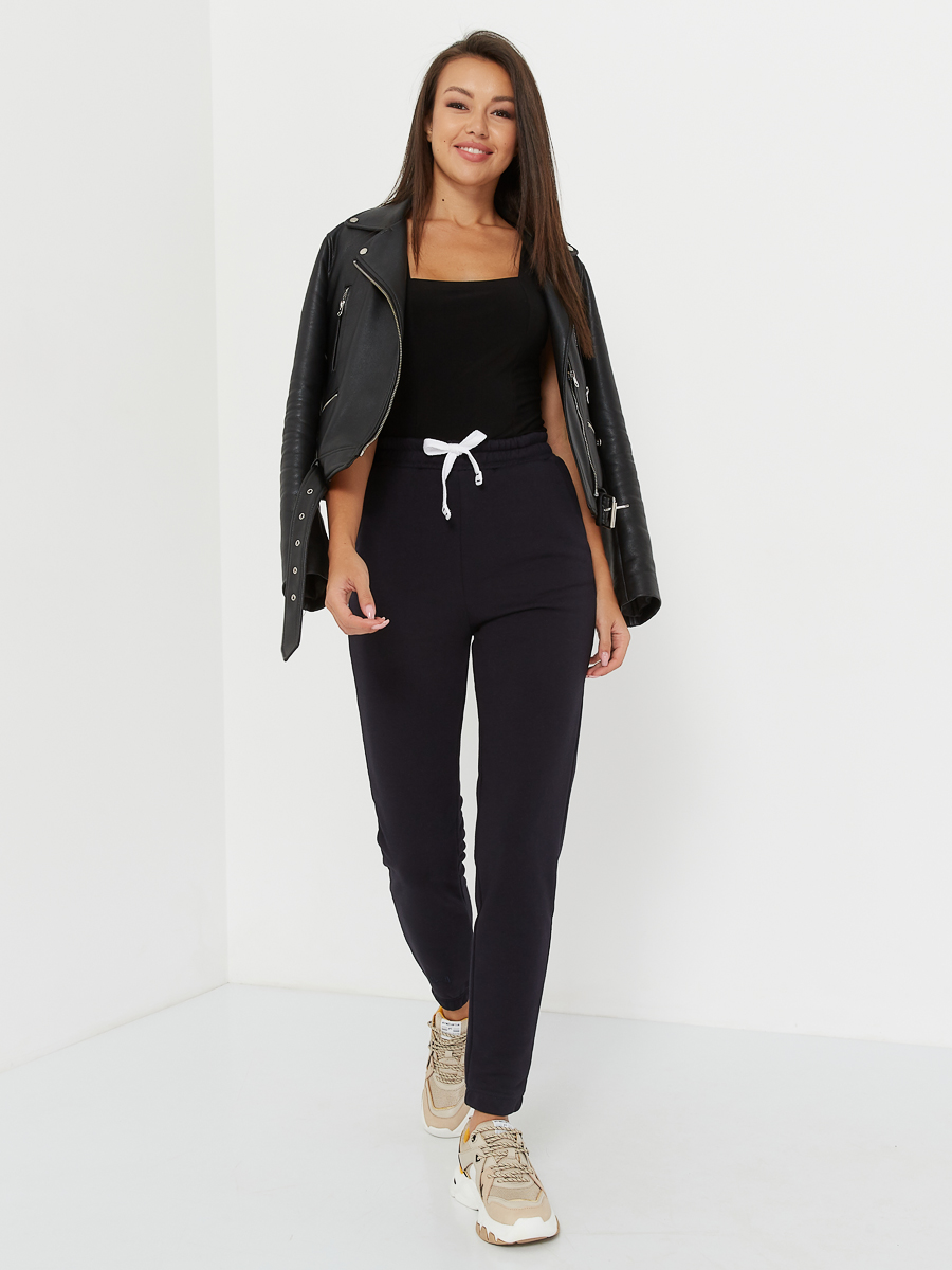 high waisted pants midnight blue