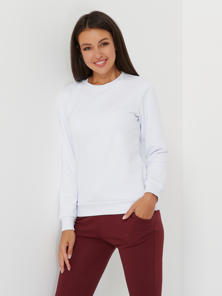 basic sweatshirt polar white