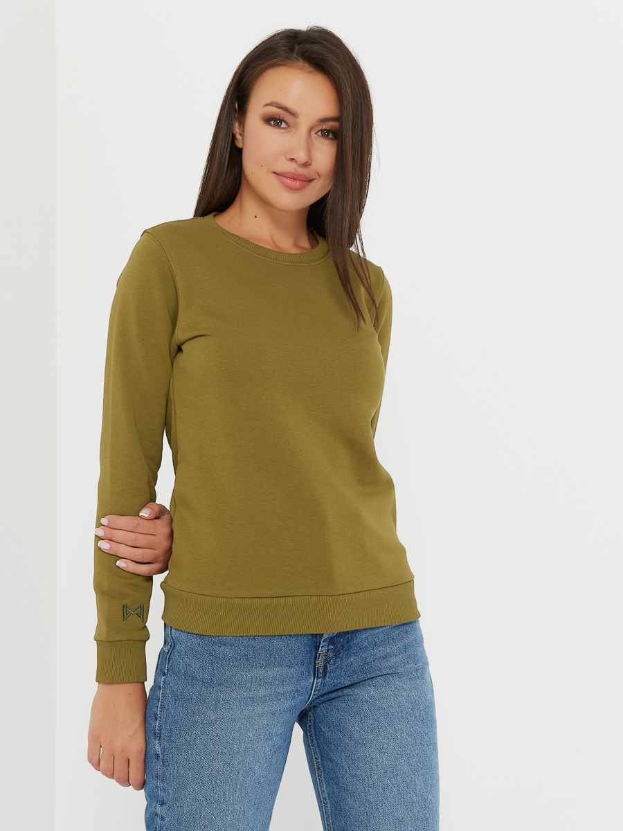 basic sweatshirt khaki
