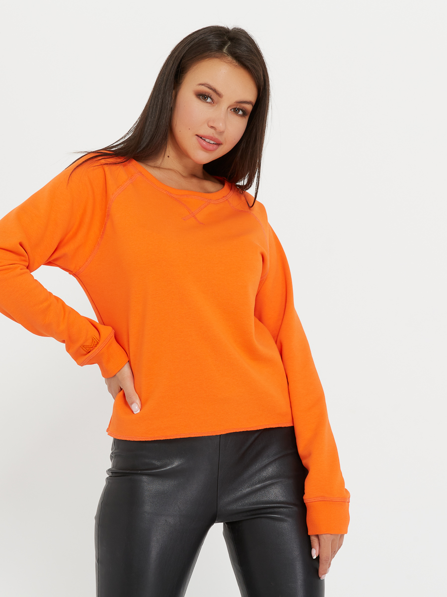 sweatshirt OVERLOCK orange peel