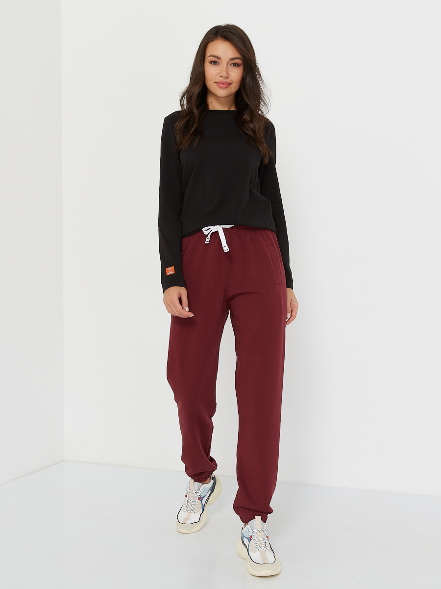 oversized pants POCKET merlot