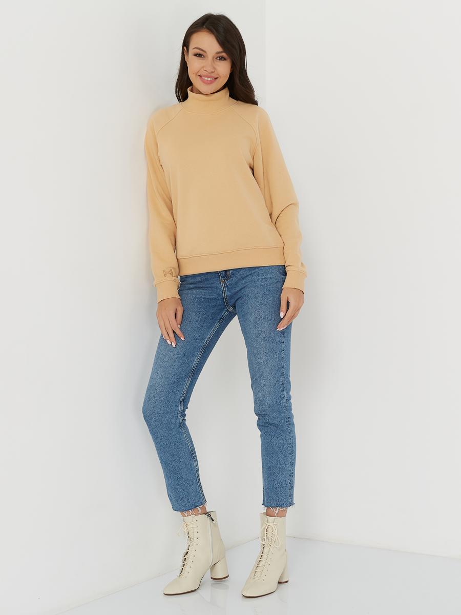 sweatshirt CREW beige