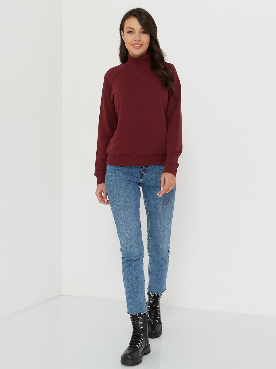 sweatshirt CREW merlot
